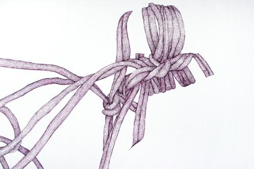 01 <i>Purple Rope</i>, detail